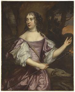 Portret van een vrouw als Diana