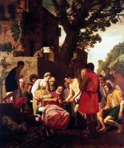 De bebloede rok van Jozef wordt door zijn broeders aan Jacob getoond (Genesis 37:32-35)