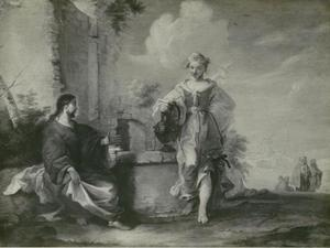 Christus en de Samaritaanse vrouw bij de bron (Johannes 4:5-27)
