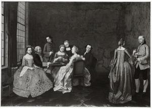 Portret van de familie Alting