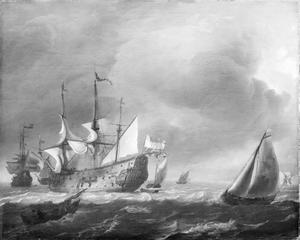Hollandse driemasters en vissersboten