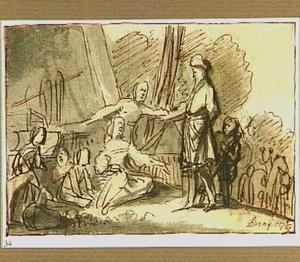 Laban zoekt de afgodsbeelden in de bagage van Jacob  (Genesis 31:34)
