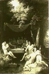 Godenmaaltijd in het woud