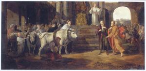 Paulus en Barnabus trachten te Lystra een offer aan Zeus te verhinderen