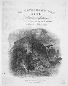 Titelblad van map met 24 etsen: De Waterramp van 1855