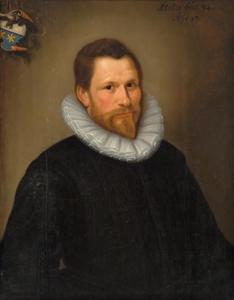 Portret van Josias Joostensz Wybo, lid van de van Bredehoff de Vicq familie