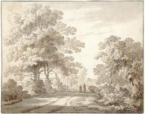 Een weg in het buurtschap Abstede bij Utrecht