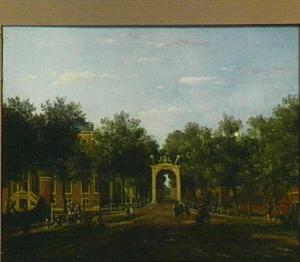 Gezicht op de Bosbrug te Den Haag