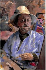 Zelfportret van Henricus Rol (1906-1992)