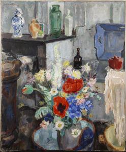 Bloemen in het atelier