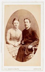 Portret van Ursul Philip Boissevain (1855-1930) en Wilhelmina Carolina Momma (1859-1921)