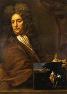 Zelfportret van Eglon van der Neer (1634-1703)