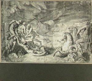 De schipbreuk van Aeneas op de Lybische kust