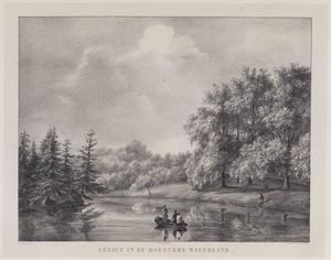 Vijver op het landgoed van de hofstede Waterland