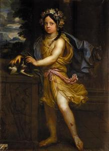 Portret van Sophia Dorothea von Braunschweig-Lüneburg (?), enige dochter van hertog Georg Wilhelm von Braunschweig-Lüneburg en Eleonora d'Esmier d'Olbreuse als een antieke godin