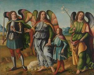 De drie aartsengelen met de kleine Tobias
