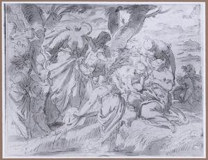 De dochter van Farao vindt Mozes in het biezen mandje (Exodus 2:3)