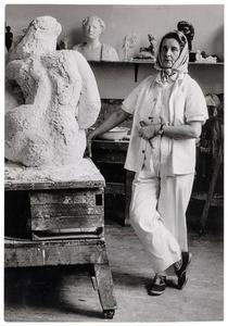 Charlotte van Pallandt in haar atelier