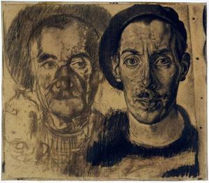 Dubbelportret van de kunstenaar en zijn vader
