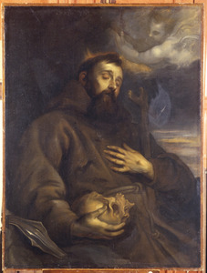 De H. Franciscus van Assisi in contemplatie