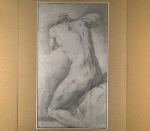 Zittend mannelijk naakt, gezien van achteren