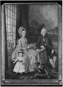 Portret van Hermanus Petrus te Nuys (1748-1809), Adriana Hakvoort (1749-1828) en hun zoontje Bernard Hendrik te Nuys (1779-1809)