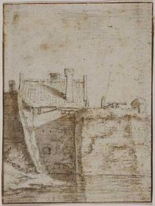 Bastion Zonnenburg te Utrecht gezien vanuit het zuidwesten