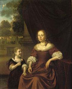 Portret van een vrouw en en meisje