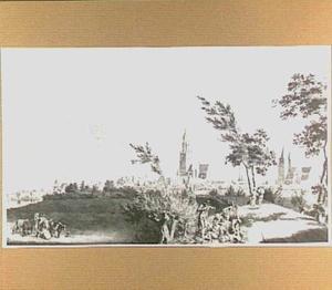 Arnhem, gezien vanaf de Westervoortsedijk