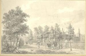 Gezicht op kasteel Buren bij Buren