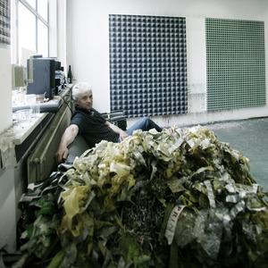 René van den Bos in zijn atelier