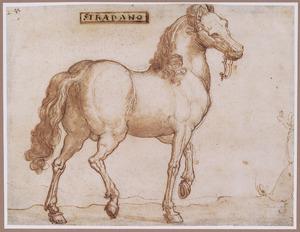 Lopend paard, naar rechts