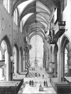 Interieur van de St. Lorenz kerk, Nuremberg