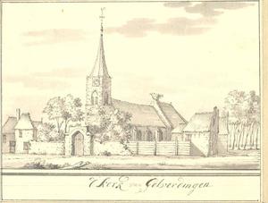 Gezicht op de kerk van Goilberdingen (gemeente Culemborg)