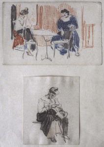 Vrouwen in interieur - twee studies