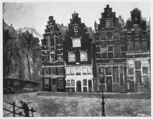 Huizen op de hoek Prinsengracht-Brouwersgracht te Amsterdam