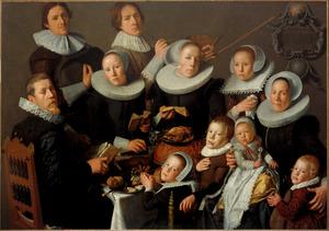 Portret van Rutger van Bochoven (1581-1644) en zijn familie
