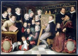 Portret van Cornelis van Veen (1519-1591) en zijn familie