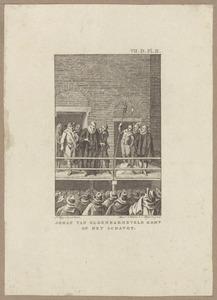 Johan van Oldenbarnevelt (1547-1619) komt op het schavot
