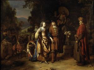 De aankomst van Rebecca bij Isaak (Genesis 24:65)