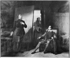 Jan van Drenckwaart en zijn gevangene, de schilder Jan Wouterz. van Cuijk, afgeluisterd door broeder Mierbecanus