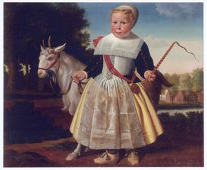 Portret van een jongen met bok