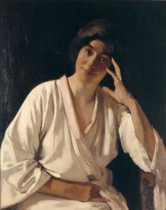 Marie Witsen in witte kimono