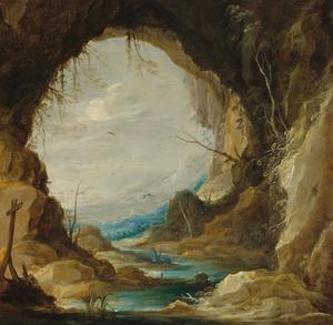 Uitzicht vanuit een grot