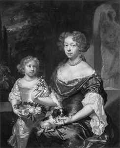 Familieportret van Maria Wolters (1652-1725) en haar dochter Jacoba Maria Scott (1685-1733)