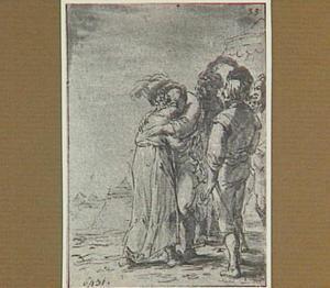 De deernen van Lazarillo's meester ontmoeten officieren (Lazarillo de Tormes dl. 2, cap. 2, p. 62)