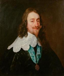 Portret van Karel I Stuart (1600-1649),  koning van Engeland, met de Orde van de Kousenband
