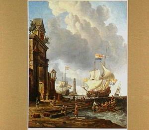 Mediterrane haven met hollandse schepen