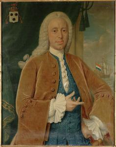 Portret van  Adriaan van Bleyswijk (1709-1779), echtgenoot van Petronella Sibregta Codde van der Burg