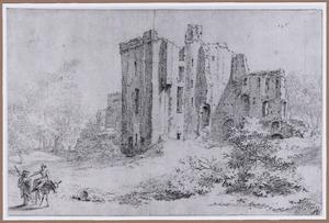 Ruïne van kasteel Brederode vanuit het zuidwesten